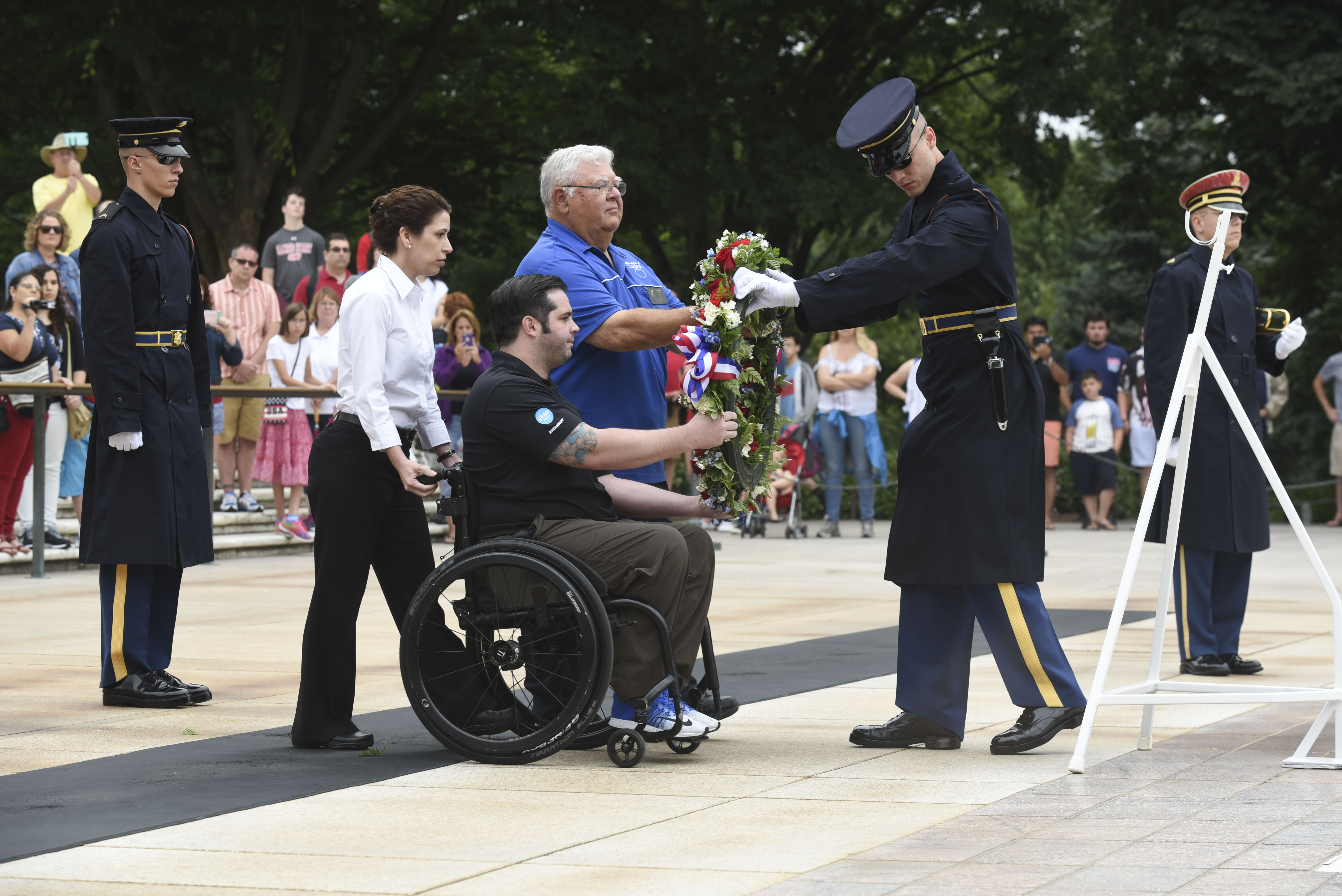 The Fraternal Order of Eagles and Ekso Bionics Highlight the Revolutionary Ekso GT Suit Allowing Paralyzed Veterans to Walk July 4 at Arlington Cemetery
